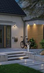 Solarlampen am Haus