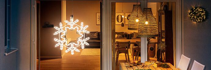 Weihnachtsbeleuchtung Fenster