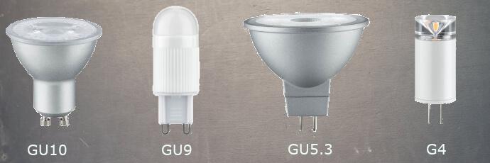 Verschiedene GU Lampenfassungen