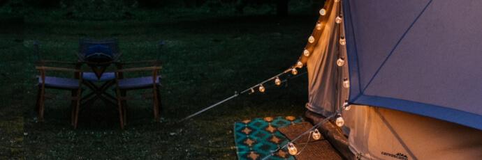 Lichterkette als Camping Lampe
