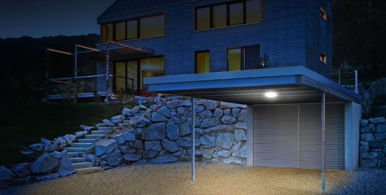 Sensorbeleuchtung in Carport